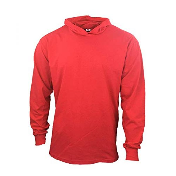 Generic Graphic Tshirt 1 Men Construction Long Sleeve Work T Shirts with Hood