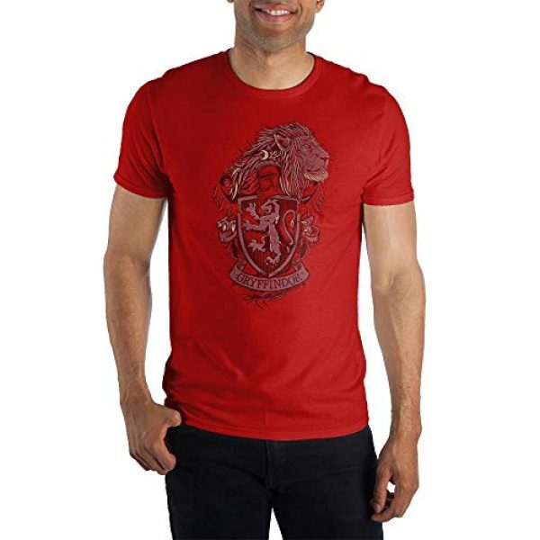 Bioworld Graphic Tshirt 1 Harry Potter House Gryffindor Coat of Arms Short-Sleeve T-Shirt-Medium