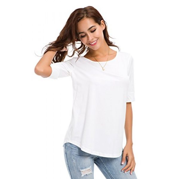 MSHING Graphic Tshirt 6 Women's Summer Casual Loose Fitting Tops Simple Crew Neck Plain Half Sleeve T-Shirt