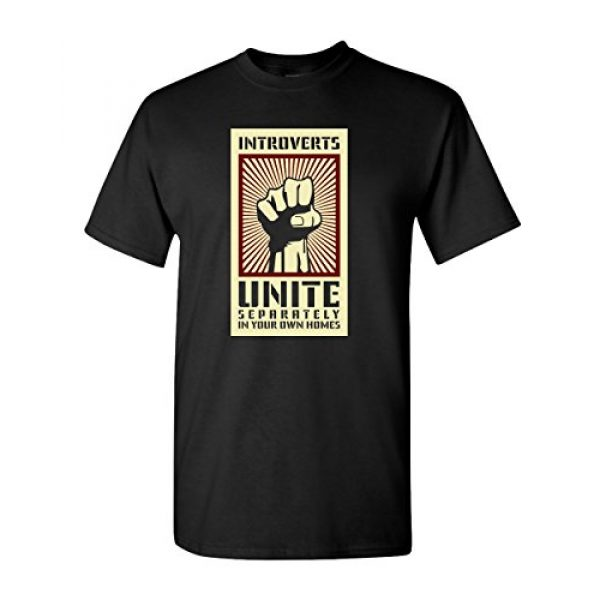 Thread Science Graphic Tshirt 1 Introverts Unite Sarcastic Nerd Loner Funny Humor Adult Mens T-Shirt Apparel