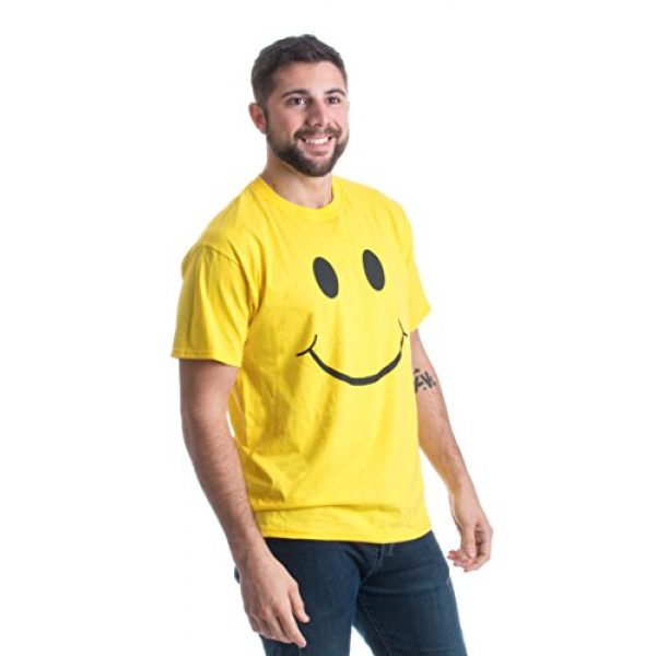 Ann Arbor T-shirt Co. Graphic Tshirt 2 Smiling Face   Cute, Positive, Happy Smile Fun Teacher T-Shirt for Men or Women