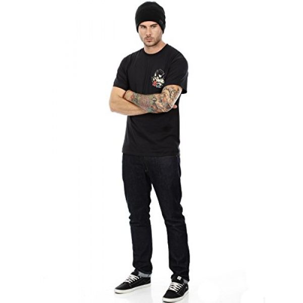 Lucky 13 Graphic Tshirt 4 Men's No Club Top Hat Lone Wolf T-Shirt Black