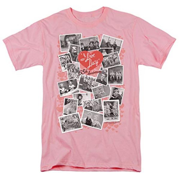 Popfunk Graphic Tshirt 1 I Love Lucy 65th Anniversary Collage T Shirt & Stickers