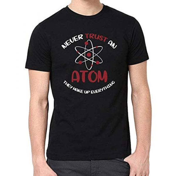 Miracle TM Graphic Tshirt 2 Atom Science Shirt for Men - Mens Never Trust an Atom They Make Up Everything Science T Shirts