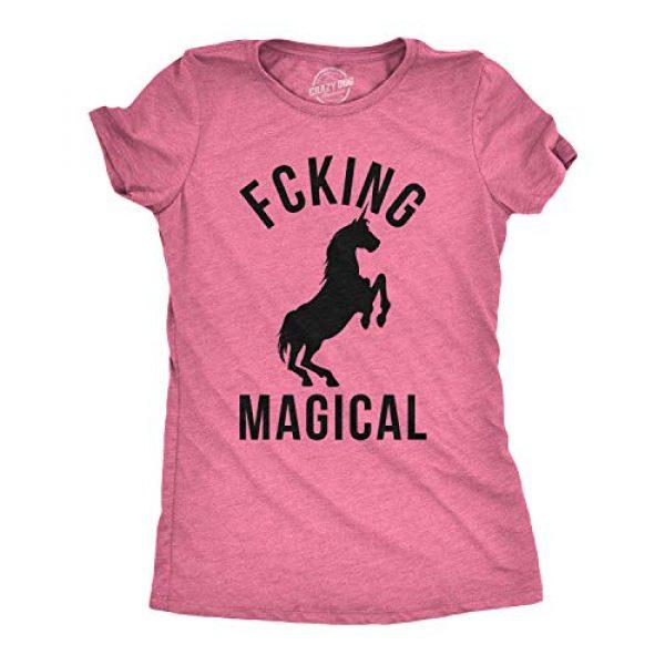 Crazy Dog T-Shirts Graphic Tshirt 1 Womens Magical Funny T Shirt Unicorn Vintage Tee Cool Cute 90s Novelty T Shirt