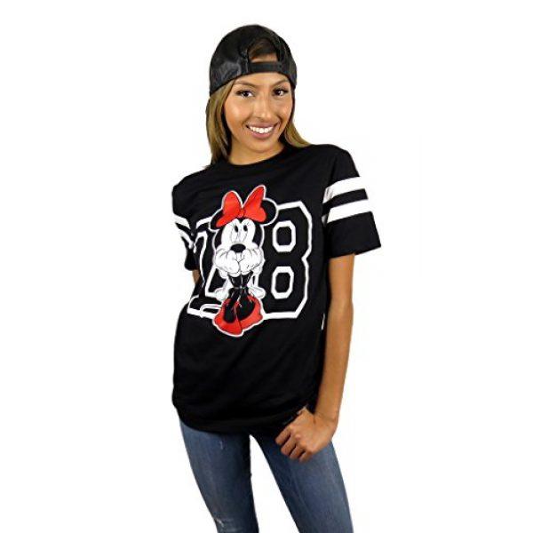 Disney Graphic Tshirt 5 Womens Minnie Mouse Varsity Football Tee