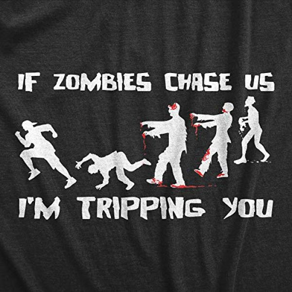 Crazy Dog T-Shirts Graphic Tshirt 2 Mens If Zombies Chase Us Im Tripping You Funny Graphic Novelty Halloween T Shirt