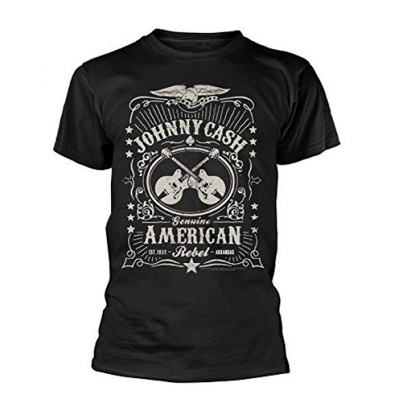 Johnny Cash Graphic Tshirt 1 T Shirt American Rebel Official Mens Black