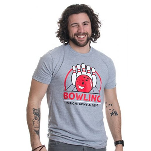 Ann Arbor T-shirt Co. Graphic Tshirt 2 Bowling is Right up My Alley! | Funny Bowler, Bowling Team Pun Humor T-Shirt