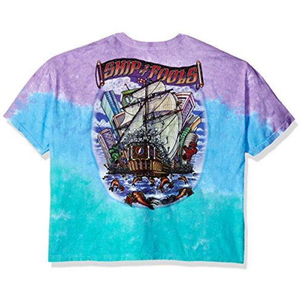 Liquid Blue Graphic Tshirt 2 Men's Grateful Dead Ship of Fools Tie Dye Short Sleeve T-Shirt
