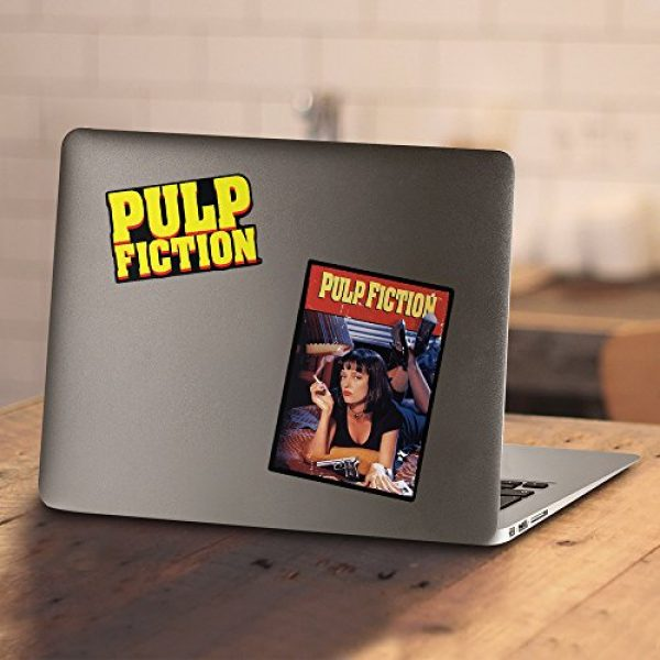 Popfunk Graphic Tshirt 4 Pulp Fiction Movie Uma Thurman John Travolta T Shirt & Stickers