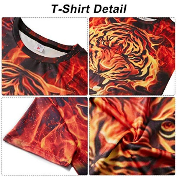 Goodstoworld Graphic Tshirt 6 Unisex Personalized Novelty 3D Printed T-Shirts Short Sleeve Tops Tees