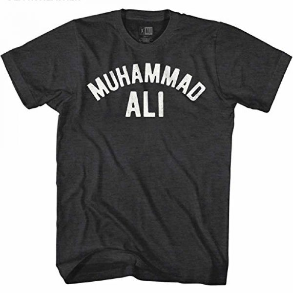 American Classics Graphic Tshirt 2 Muhammad Ali 60s Goat Greatest Boxer Black Heather Adult T-Shirt Tee
