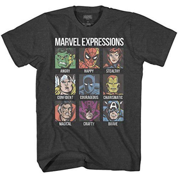 Marvel Graphic Tshirt 1 Avengers Expression Moods Spider-Man Hulk Thor Iron Man Black Panther Strange America Mens Adult T-Shirt