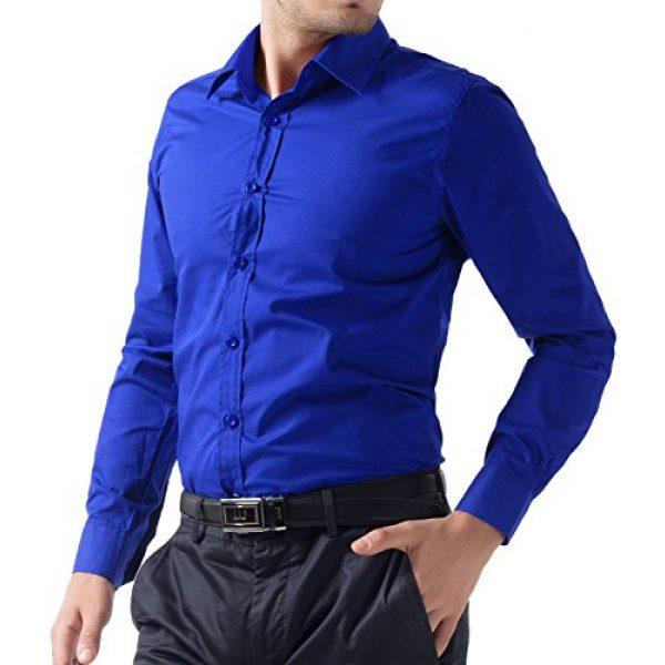 PJ PAUL JONES Graphic Tshirt 4 Paul Jones Men's Long Sleeves Button Down Dress Shirts