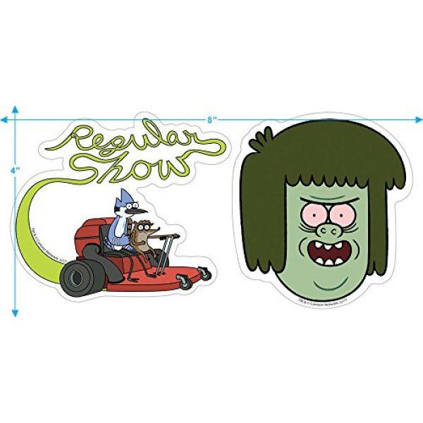Popfunk Graphic Tshirt 3 Regular Show Muscle Man Cartoon Network T Shirt & Stickers