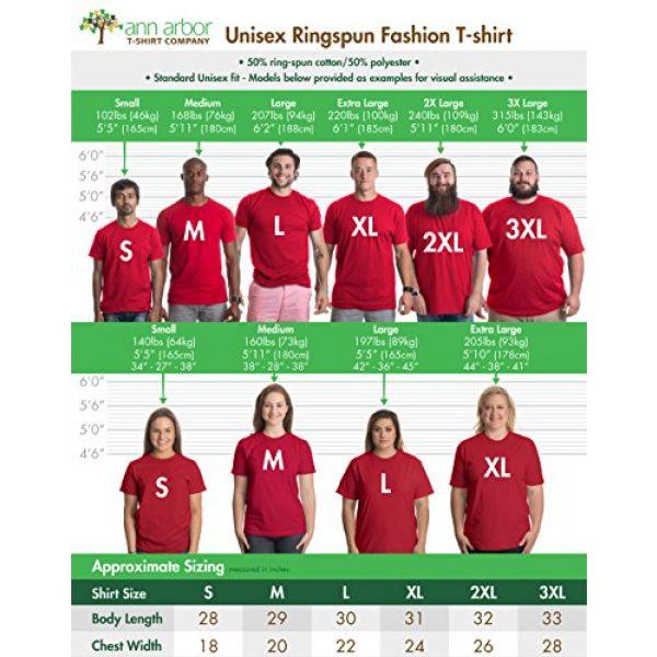 Ann Arbor T-shirt Co. Graphic Tshirt 6 Tennessee Flag | Vintage Distressed Effect Tennesseean Volunteer State T-Shirt