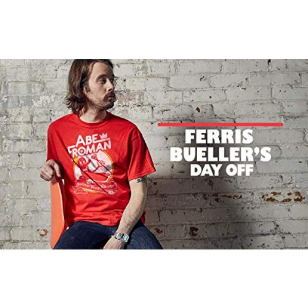 Ripple Junction Graphic Tshirt 3 Ferris Bueller's Day Off Adult Unisex Abe Froman Heavy Weight 100% Cotton Crew T-Shirt