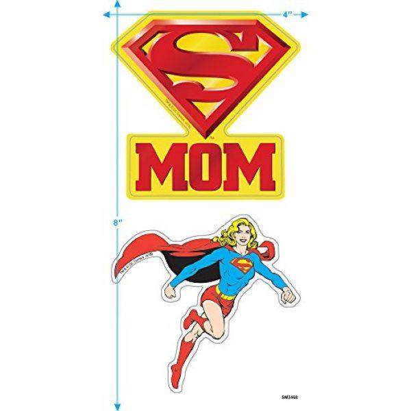 Popfunk Graphic Tshirt 3 Superman Super Mom Pink Logo DC Comics T Shirt & Stickers