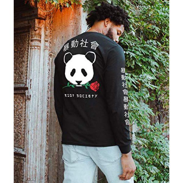Riot Society Graphic Tshirt 2 Panda Rose Mens Long Sleeve T-Shirt - XXL