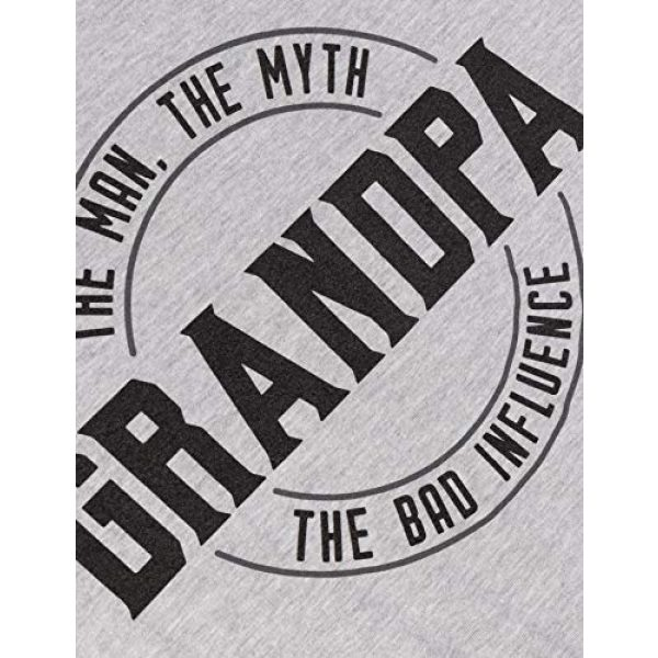 Ann Arbor T-shirt Co. Graphic Tshirt 5 Grandpa: Man, Myth, Bad Influence | Funny Dad Joke Papa Grandfather Humor Shirt for Men T-Shirt