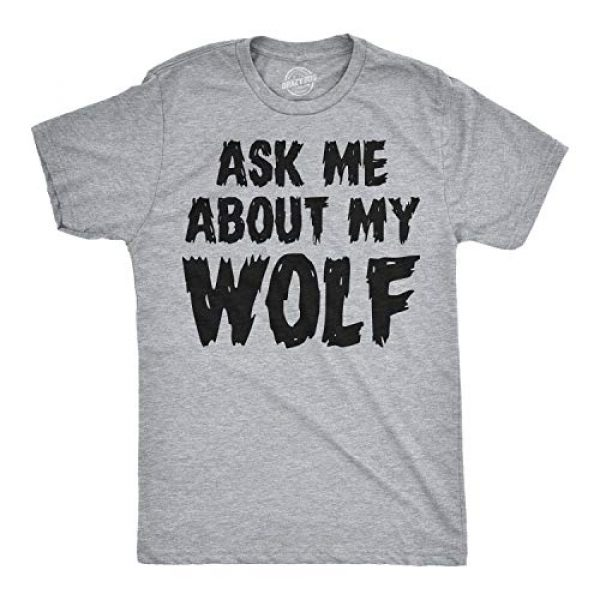 Crazy Dog T-Shirts Graphic Tshirt 2 Ask Me About My Wolf Flip T Shirt Cool Design Funny Saying Novelty Graphic