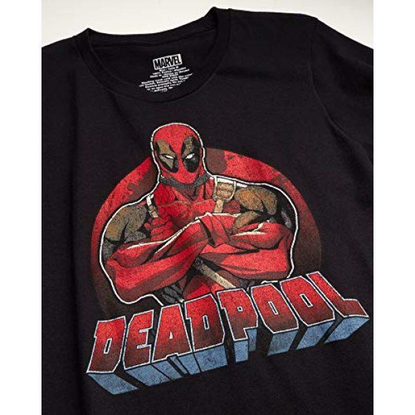 Marvel Graphic Tshirt 2 Comics Men's 2 Pack Avengers & Deadpool T-Shirts - Cotton Short Sleeve Superhero Graphic Tee