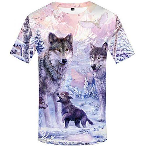 KYKU Graphic Tshirt 1 Unisex Wolf Shirt Wolves Shirts Wild Animal 3D Printed Graphic T-Shirt