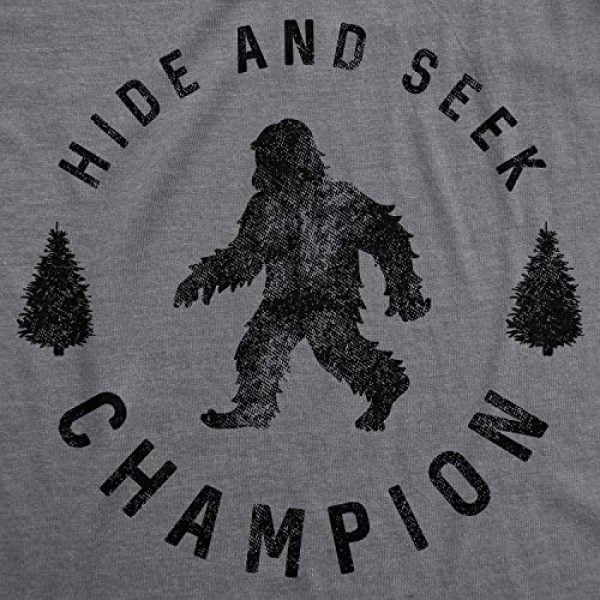 Crazy Dog T-Shirts Graphic Tshirt 2 Mens Hide and Seek Champion T Shirt Funny Bigfoot Tee Humor Cool Graphic Print