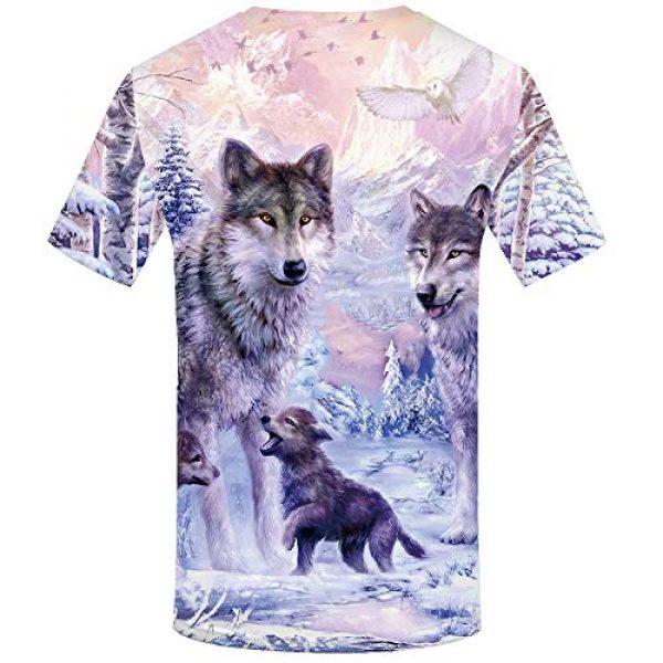 KYKU Graphic Tshirt 2 Unisex Wolf Shirt Wolves Shirts Wild Animal 3D Printed Graphic T-Shirt
