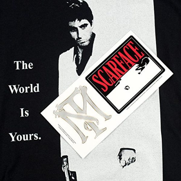 Popfunk Graphic Tshirt 6 Scarface The World is Yours T Shirt & Stickers