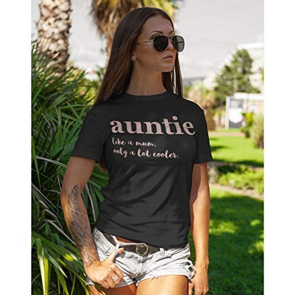 Purple Print House Graphic Tshirt 3 Aunt Shirt, Rose Gold Auntie Shirt for Women, Aunt Gifts from Niece, Funny Tshirts, Shirts top Novelty t Shirt