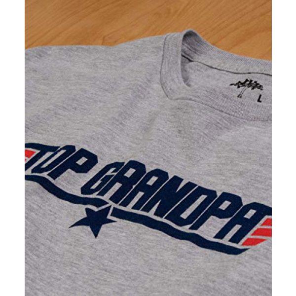 Ann Arbor T-shirt Co. Graphic Tshirt 5 Top Grandpa | Funny 80s Dad Humor Movie Gun 1980s Military Air Force Men T-Shirt