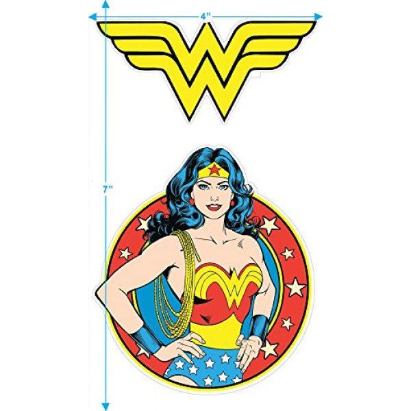 Popfunk Graphic Tshirt 3 Wonder Woman Vintage Logo DC Comics Longsleeve T Shirt & Stickers