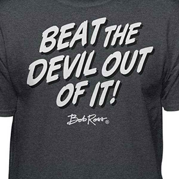 Teelocity Graphic Tshirt 2 Bob Ross Beat The Devil Out of it Graphic T-Shirt