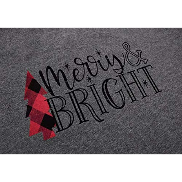 JINTING Graphic Tshirt 2 Short Sleeve Christmas Shirts for Women Merry and Bright Shirt Letter Print Christmas Graphic Tee Shirts Tops