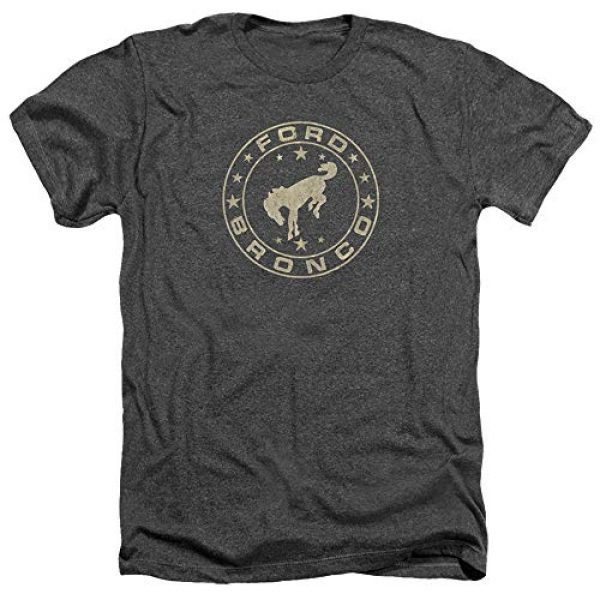 Trevco Graphic Tshirt 1 Ford Bronco Vintage Star Bronco Unisex Adult Heather T Shirt for Men and Women