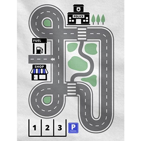 Tstars Graphic Tshirt 2 Play Cars on Daddy's Back Shirt Gift for Dad and Kids Funny Car Play Mat T-Shirt