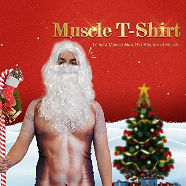 JIAYIQI Graphic Tshirt 2 3D Art Printed Short Sleeves Muscle T-Shirt Casual Summer Tees for Men