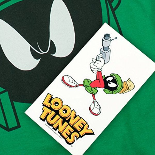 Popfunk Graphic Tshirt 6 Looney Tunes Marvin Helmet T Shirt & Stickers