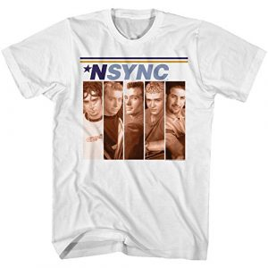 American Classics Graphic Tshirt 2 NSYNC Boxes White Adult T-Shirt Tee