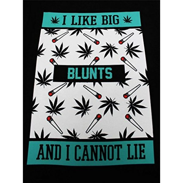 tees geek Graphic Tshirt 2 I Like Big Blunts Men's Funny T-Shirt