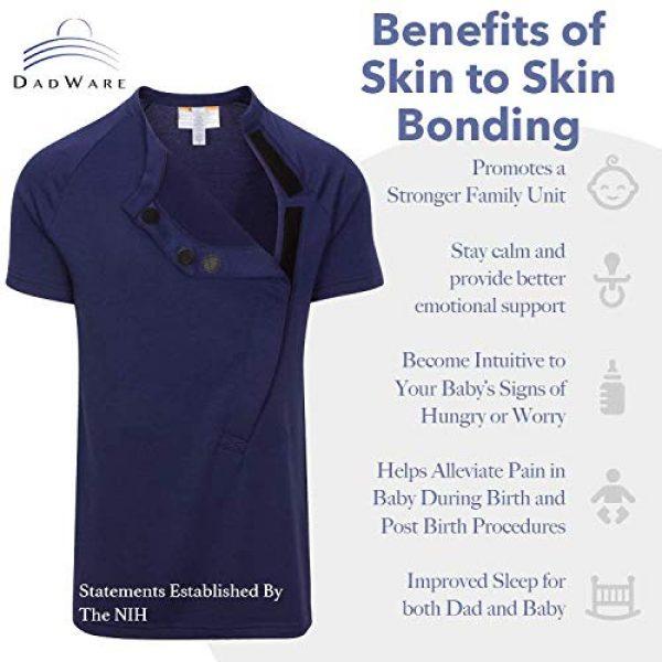 DadWare Graphic Tshirt 3 Bondaroo Skin to Skin Kangaroo Care Bonding tee Shirt for New New Dad