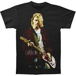 FEA Graphic Tshirt 1 Men's Kurt Cobain Red Jacket Guitar Photo Mens T-Shirt