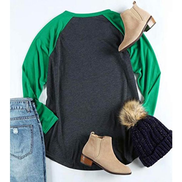 FAYALEQ Graphic Tshirt 4 Plus Size It's Christmas Y'all Baseball T-Shirt Women 3/4 Sleeve Raglan Holiday Tops