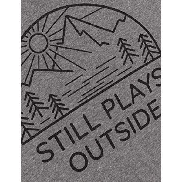 Ann Arbor T-shirt Co. Graphic Tshirt 5 Still Plays Outside | Funny Cool Camping Hiking Camp Hike Women Outdoors Shirt Top