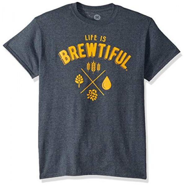 10oz apparel Graphic Tshirt 1 Beer t Shirt Life is Brewtiful Funny Tshirt