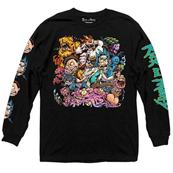 Ripple Junction Graphic Tshirt 1 Rick and Morty Character Collage Long Sleeve