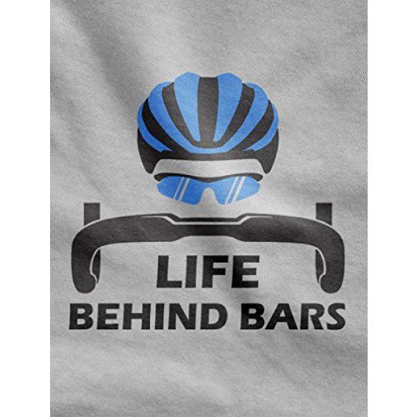 Tstars Graphic Tshirt 2 Life Behind Bars Shirt Gift for Bicycle Riders Funny Bike Long Sleeve T-Shirt