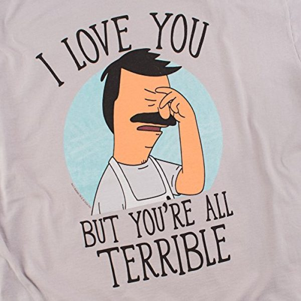 Popfunk Graphic Tshirt 5 Bob's Burgers You're All Terrible T Shirt & Stickers